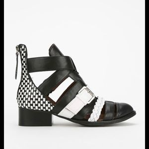 ISO Jeffrey Campbell Level Up B&W Booties Sz 8